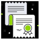 Icon mit Diplom für Know-how und Erfahrung